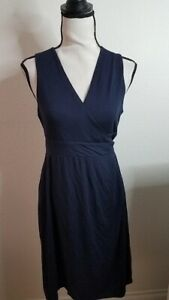 Ingrid & Isabel Women's Maternity Sleeveless Wrap Dress, True Navy, Medium