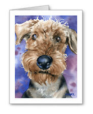 AIREDALE TERRIER Set of 10 Note Cards With Envelopes