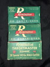Three Vintage Remington .38 Special Targetmaster Empty Boxes With Trays Lot #2