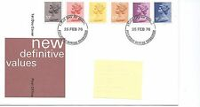 GB - FIRST DAY COVER - FDC - DEFINITIVES -1976 - 6 vals to 20p - Pmk PB