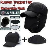 Men Winter Aviator Bomber Hat Trooper Ear Flap Snow Ski Elmer Fudd Mask Hood Cap