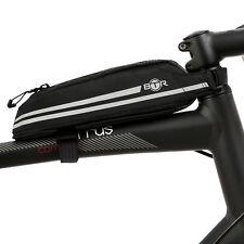 BTR Lightweight Slimline Water Resistant Top Tube Bike Frame Bag. Waterproof Zip