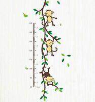 Affe Monkey Wandsticker Wandtattoo Kinder Größenmesser Aufkleber Kinderzimmer
