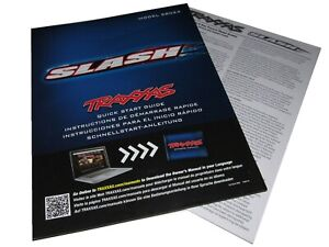 Traxxas 58024 SLASH 2wd XL-5 Quick Start Guide, Parts Book Exploded Views