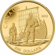 Canada 2012 Great Explorers #1 Viking Norsemen Longboat Discovery $200 Gold Prf