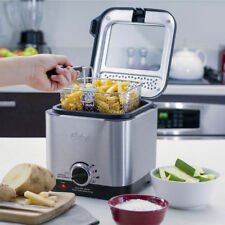 Small Mini Electric Deep Fryer Stainless Steel Fry Food Chicken Fish Fast Cook