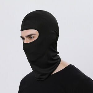 Balaclava Full Face Mask Men Women Cycling Ski Winter Warm Neck Black Motorbike