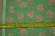 """By-the-1/2-Yard, 44"""" Wide, Peach on Mint-Green Quilter's Cotton, Moda, M6867"""