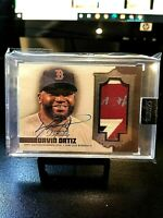 "2019 DAVID ORTIZ #5/10 TOPPS DYNASTY ""DYNASTIC DECORATIONS"" AUTO 3 COLOR PATCH.."