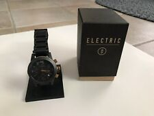 Electric California FW02 SS Mens Watch Black and Copper Chronograph Steel PVD