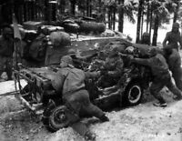 WW2 WWII Photo World War Two US Army Medic Jeep in Snow Willys Ford   / 3149