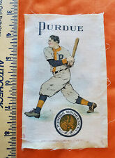 Vintage Murad Tobacco silk college Purdue University Baseball Batter