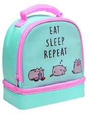 Pusheen the Cat Lunch Bag Lunch Box Two Compartment Eat Sleep Repeat Shool Gift