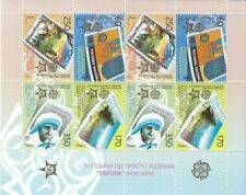 MACEDONIA SOUV. SHEET # 352 (X 2) CAT $ 100 EUROPA MOTHER THERESA STAMP ON STAMP