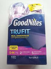 GoodNites TruFit Underwear Nighttime Protection 2 Starter Packs for Girls ~ S-M