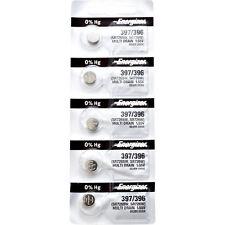 0% Mercury equivilate Sr726Sw or 396 5 x Energizer 397 Watch Batteries,