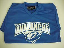 COLORADO AVALANCHE NFL Hockey Jersey Shirt Blue YL Authentic Harrow Sports Large