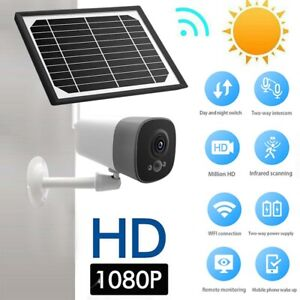 1080P Solar Power Outdoor WIFI Surveillance CCTV Security IP Camera
