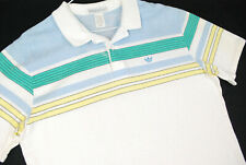 Vintage 80s Adidas Trefoil Short Sleeve Polo Shirt Pastel Tennis Golf Mens L Usa