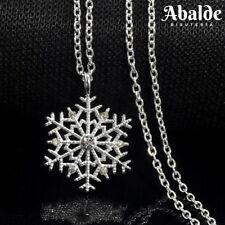 Collar Colgante Mujer Copo de Nieve Color Plata Circonita Frozen Regalo ideal