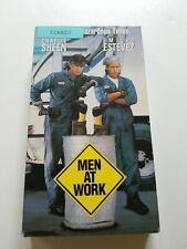 Men at Work VHS, 1990 Charlie Sheen, Emilio Estevez, Leslie Hope