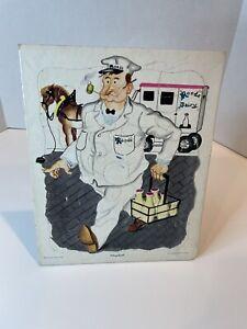 Vintage Playskool Rood's Dairy Puzzle W/ Milkman & Horse -Golden Press