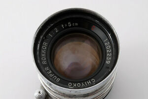 """""""Rare"""" [Excellent] Chiyoko Super Rokkor C 5cm 50mm f/2 for Leica L39 From Japan"""