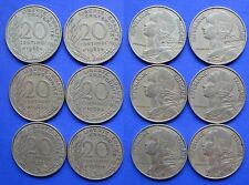 France 20 Centimes 1962, 1963, 1964, 1967, 1968, 1969