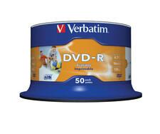 200 DVD-R STAMPABILI VERBATIM 16X 4.7GB PRINTABLE CAMPANA 50PZ 43533