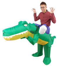 Adult Crocodile Knight Inflatable Costume Party Fancy Dress Halloween Costume