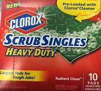 Clorox Scrub Singles Heavy Duty Scouring Pads, 10 Count