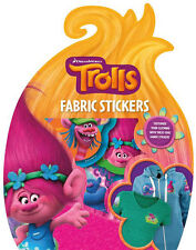 Trolls Fabric Stickers for Scrapbooking or Customising Bags Pencil Cases Books