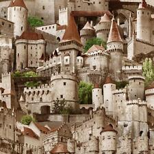 Muriva Castillos Estampado Foto Realista VINILO CON TEXTURA Mural Papel Pintado