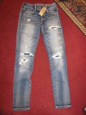 NWT AMERICAN EAGLE Distressed Low Rise Jegging Super Stretch Jeans...size 0