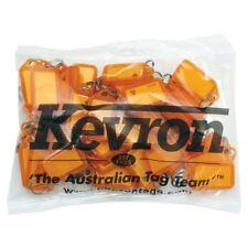Key Tags Kevron Orange Pk50