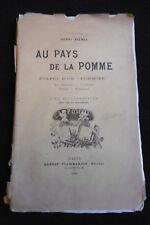 """AVENEL Henri """"AU PAYS DE LA POMME"""" étape d'un Pommier 1898 Havre Dinard Honfleur"""