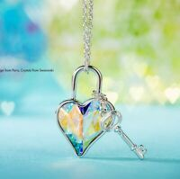 Key and Heart Necklace BNIB by Touchstone Crystal and Swarovski