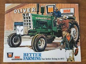 1972 Oliver MM Better Farming Dealer Brochure Tractor Equipment Edition IX MINT