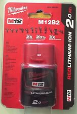 Batterie MILWAUKEE M12 B2 REDLITHIUM Li-Ion 2.0Ah
