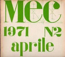 MEC. Rivista di comunicazioni visive e accertamenti poetici - 2 (aprile 1971)