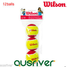 4 Tubes Wilson Tennis Balls for Kids Brand New (12 Balls)