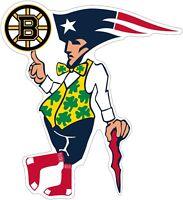 "Boston Guy Sports Teams Logo Mash Up Vinyl Decal - You Choose Size 3""-28"""
