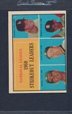 1961 Topps #049 NL Strikeout Leaders VG/EX *490
