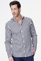 van Laack - Hemd Teso Herren Slim Fit gestreift blau-weiß NEU: 99 €