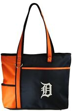 New MLB Carryall Tote Bag Purse Licensed DETROIT TIGERS Embroidered Logo