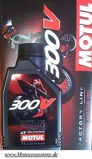 Motul 300V Off Road Carreras 10W40 Factoría Aceite de motor KTM SXF EXC-F 250