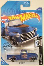 2020 Hot Wheels Blue Rusty 52 Chevy Mighty Max Garage Truck 201/250