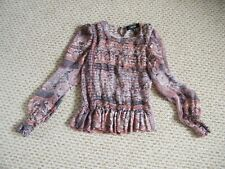 ISABEL MARANT Stan Paisley Silk Gauze Top Size 6-8