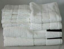 Hotel Vendome Eight Piece Solid White Bathroom Towel Set 100% Cotton New