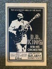 B.B. King Concert Poster 1976 Austin